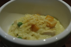 Chicken, Pumpkin & Pea Risotto